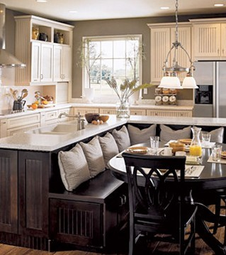 Delicieux Comfy Dining Room And Kitchen Remodel Design Idea.