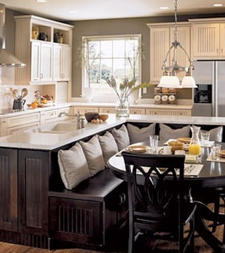 Beau Comfy Dining Room And Kitchen Remodel Design Idea