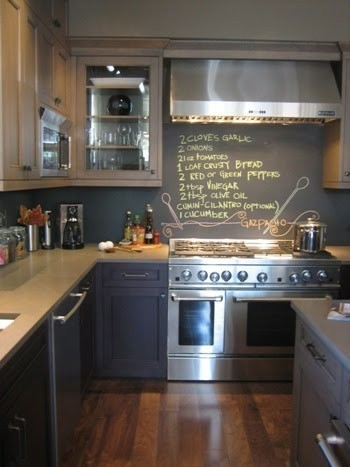 Diy kitchen remodel chalkboard paint for notes for Chalkboard paint kitchen ideas