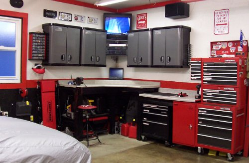 Cool garage design idea for your home improvement list for Home garage shop