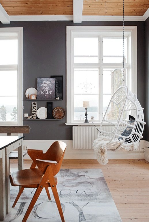 pinterest hanging chair dining room