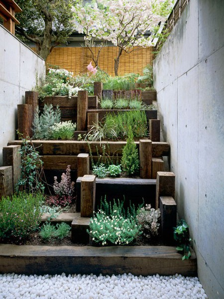 Terraced Backyard Diy :  you never use, you could turn it into your own personal herb garden