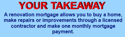 what is a renovation mortgage