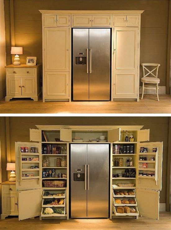 Diy Home Decor Fridge Surrounded By Pantry