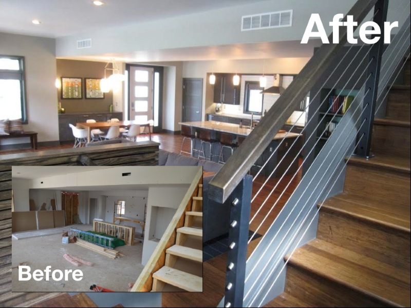 Before and After pic of home remodeling project
