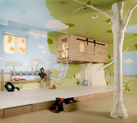 Dream Home Design Ideas for an Amazing House kids room tree house