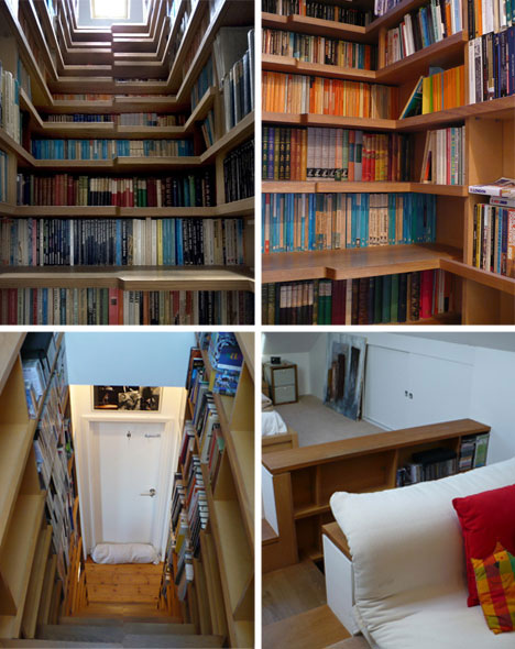 Dream Home Design Ideas for an Amazing House staircase bookshelf