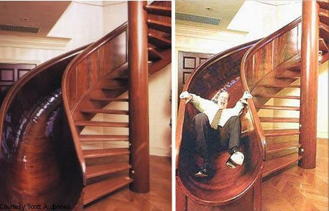 Dream Home Design Ideas for an Amazing House slide stairs